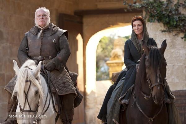 Game of Thrones - Publicity still of Michelle Fairley & Ron Donachie