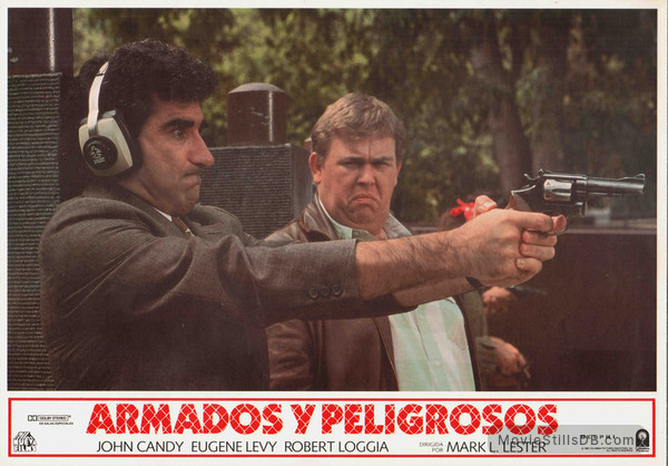 Armed and Dangerous - Lobby card with John Candy & Eugene Levy