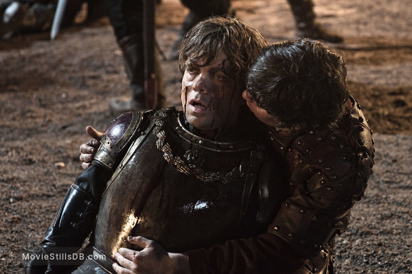 Game of Thrones - Publicity still of Peter Dinklage & Daniel Portman
