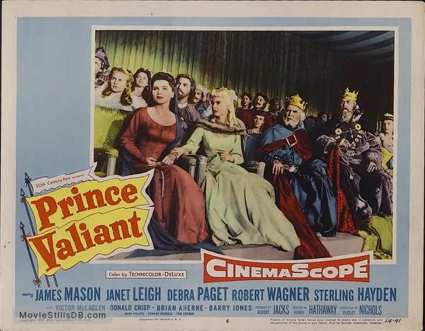 Prince Valiant - Lobby card with Janet Leigh