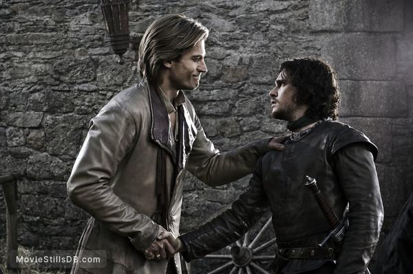 Game of Thrones - Publicity still of Kit Harington & Nikolaj Coster-Waldau