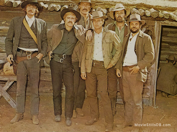 Butch Cassidy and the Sundance Kid - Publicity still of Paul Newman, Robert Redford, Ted Cassidy, Timothy Scott & Charles Dierkop