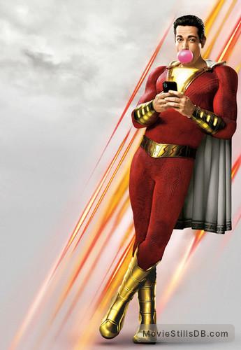 Shazam! - Promotional art with Zachary Levi