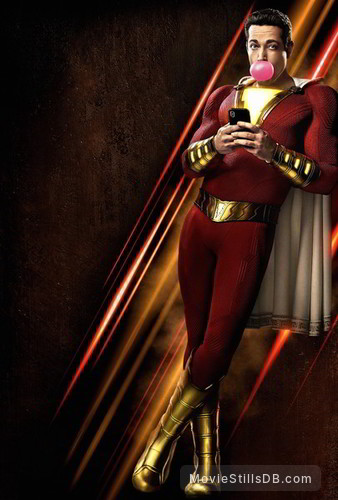 Shazam! - Promotional art with Zachary Levi