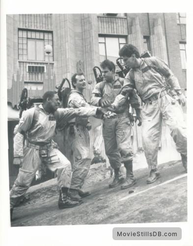 Ghost Busters - Publicity still of Ernie Hudson, Bill Murray, Dan Aykroyd & Harold Ramis