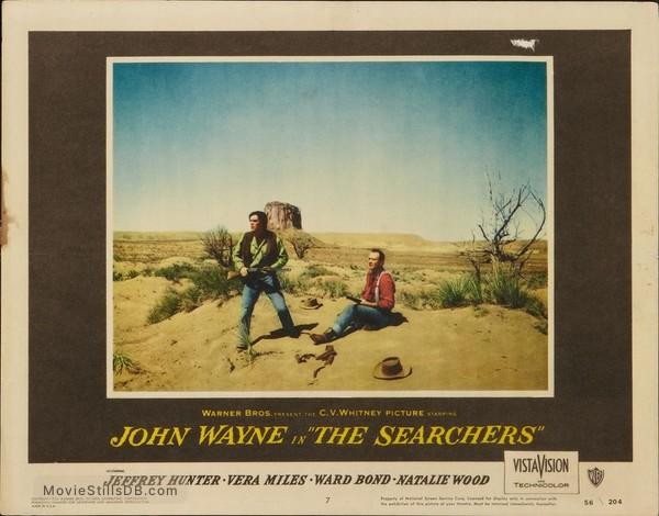 The Searchers - Lobby card with Jeffrey Hunter & John Wayne