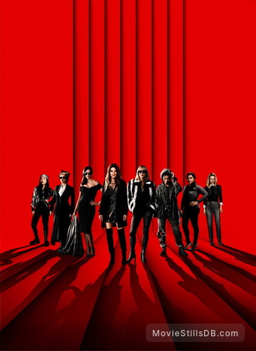 Ocean's Eight - Promotional art with Sandra Bullock, Helena Bonham Carter, Cate Blanchett, Anne Hathaway, Sarah Paulson, Mindy Kaling, Rihanna & Awkwafina