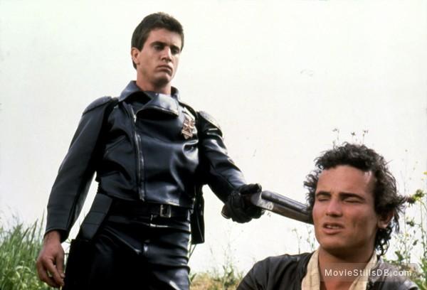 Mad Max - Publicity still of Mel Gibson & Tim Burns
