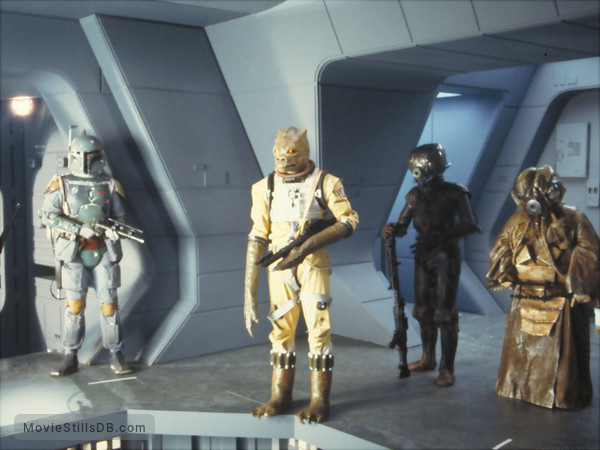Star Wars: Episode V - The Empire Strikes Back - Publicity still of Alan Harris, Jeremy Bulloch, Chris Parsons & Cathy Munro