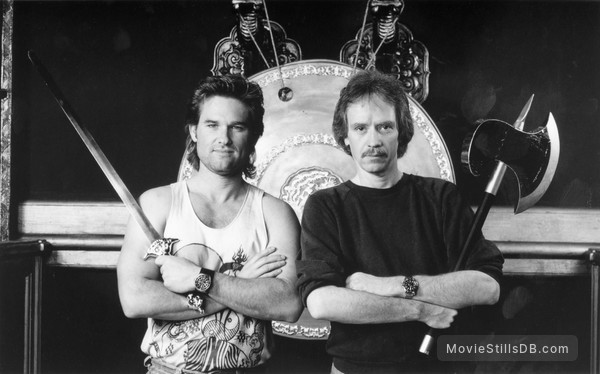 Big Trouble In Little China - Publicity still of Kurt Russell & John Carpenter