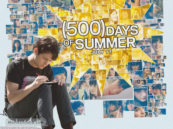 (500) Days of Summer - Wallpaper with Joseph Gordon-Levitt & Zooey Deschanel