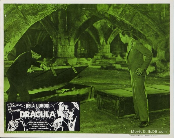 Dracula - Lobby card with Bela Lugosi, Edward Van Sloan & David Manners