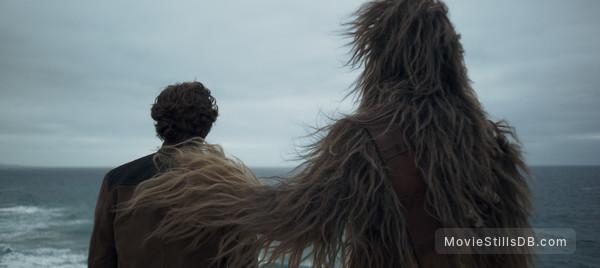 Solo: A Star Wars Story - Publicity still of Alden Ehrenreich & Joonas Suotamo