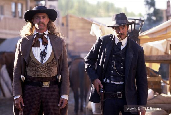 Deadwood - Publicity still of Timothy Olyphant & Keith Carradine