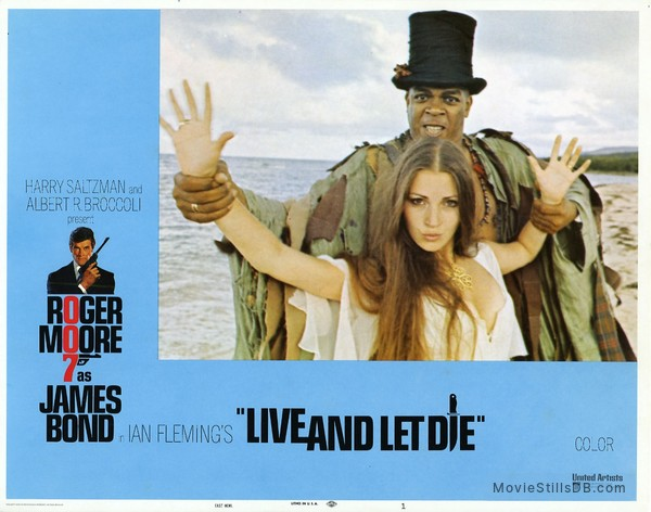 Live And Let Die - Lobby card with Jane Seymour & Geoffrey Holder