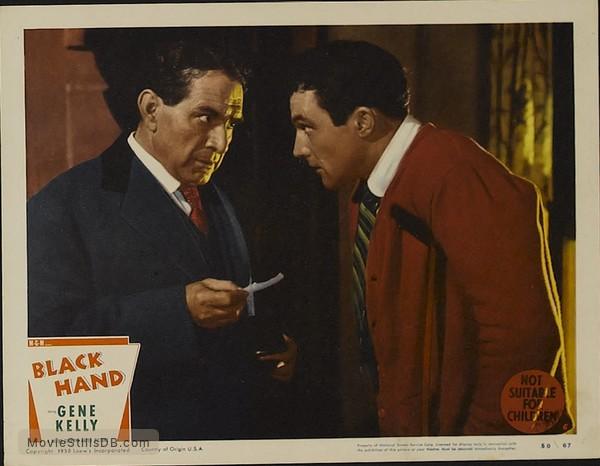 Black Hand - Lobby card with Gene Kelly & J. Carrol Naish