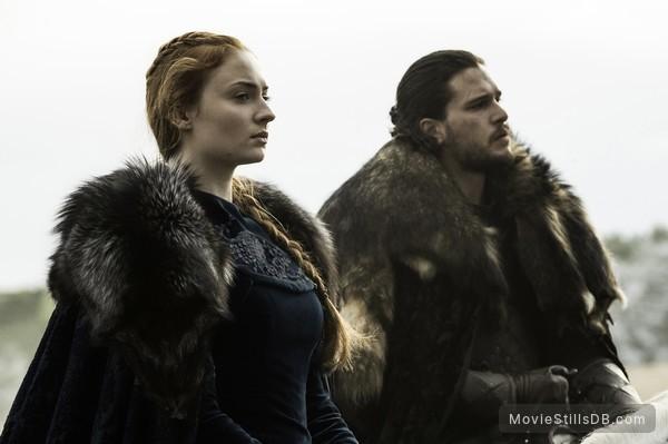 Game of Thrones - Publicity still of Kit Harington & Sophie Turner