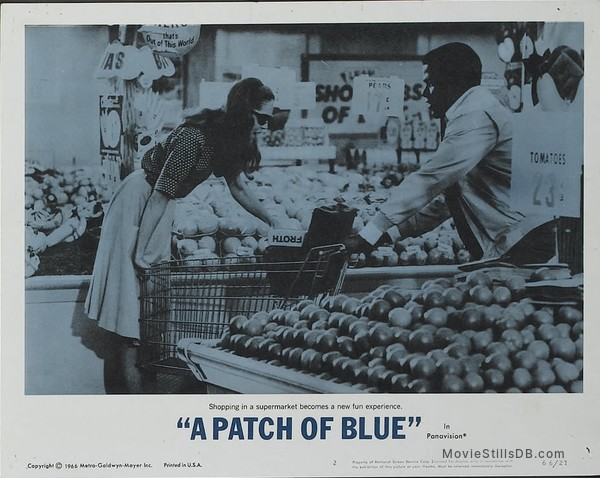 A Patch of Blue - Lobby card with Sidney Poitier & Elizabeth Hartman