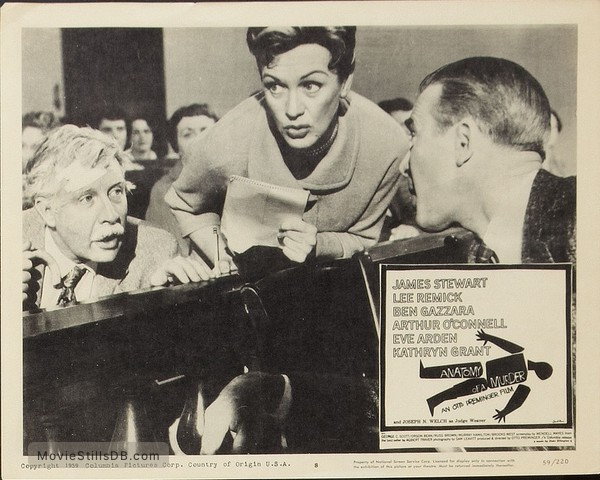 Anatomy of a Murder - Lobby card with Arthur O'Connell, Eve Arden & James Stewart