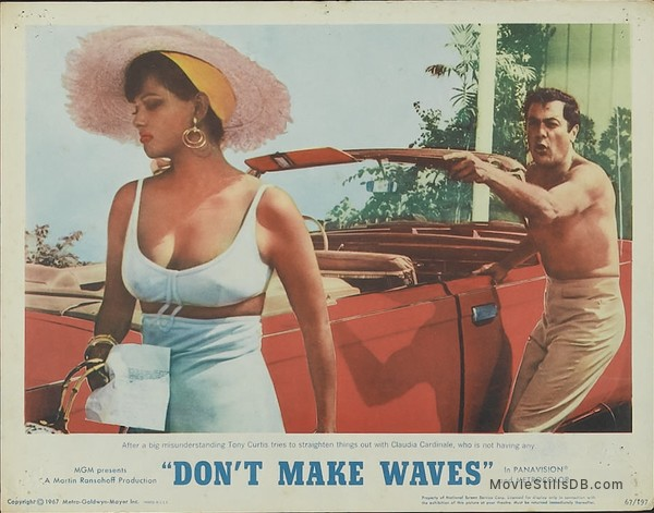 Don't Make Waves - Lobby card with Claudia Cardinale & Tony Curtis