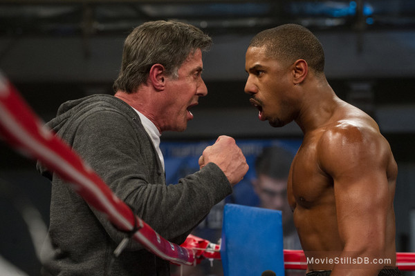 Creed - Publicity still of Sylvester Stallone & Michael B. Jordan