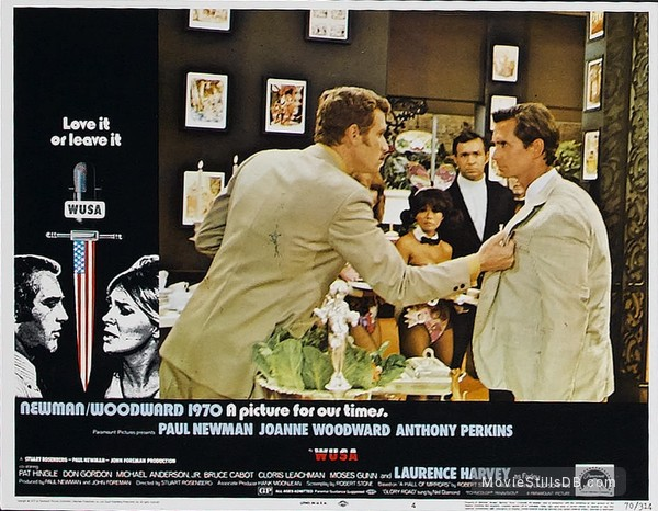 WUSA - Lobby card with Paul Newman, Joanne Woodward, Anthony Perkins & Wayne Rogers