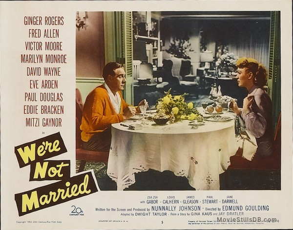 We're Not Married! - Lobby card with Paul Douglas & Eve Arden