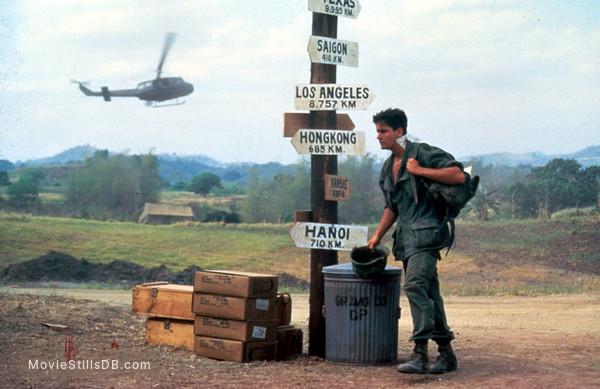 Platoon - Publicity still of Charlie Sheen