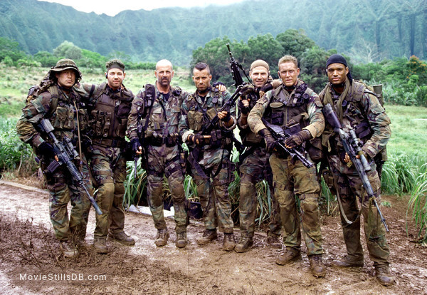 Tears Of The Sun - Publicity still of Bruce Willis, Cole Hauser, Paul Francis, Nick Chinlund, Johnny Messner, Chad Smith & Charles Ingram