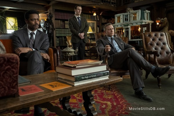 Knives Out - Publicity still of Lakeith Stanfield & Noah Segan