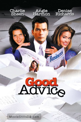 Good Advice - Promotional art with Charlie Sheen, Angie Harmon & Denise Richards