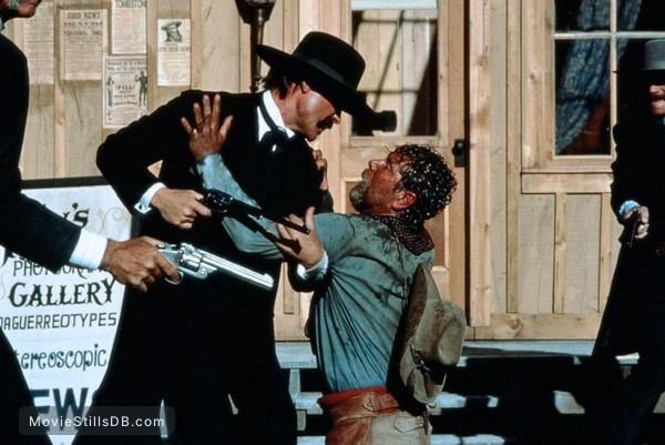 Tombstone - Publicity still of Sam Elliott, Kurt Russell, Stephen Lang & Bill Paxton