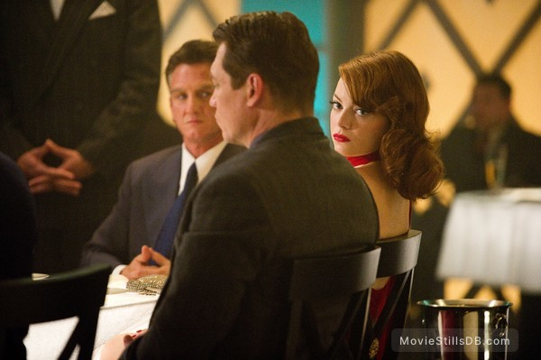 Gangster Squad - Publicity still of Sean Penn, Emma Stone & Holt McCallany