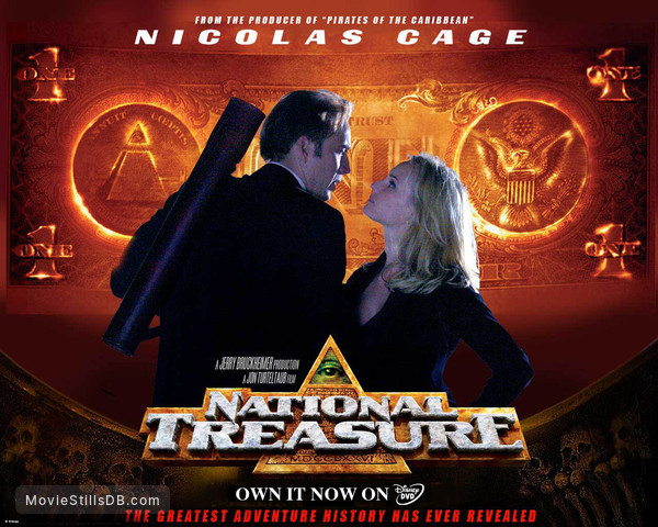 National Treasure Wallpaper With Nicolas Cage Diane Kruger