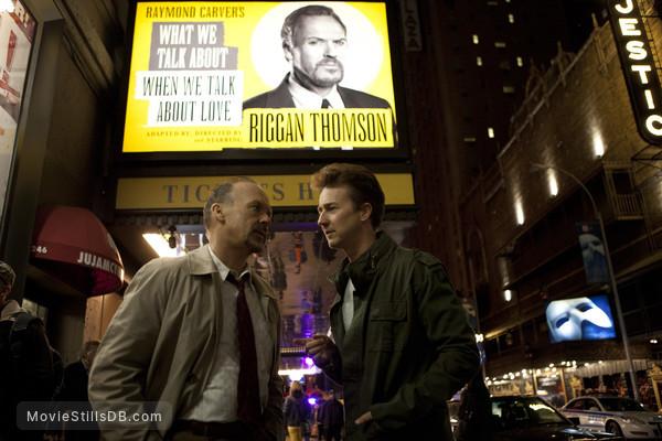 Birdman - Publicity still of Michael Keaton & Edward Norton