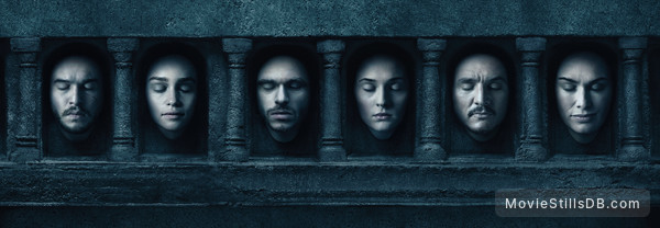 Game of Thrones - Promotional art with Emilia Clarke, Kit Harington, Sophie Turner, Richard Madden, Lena Headey & Pedro Pascal