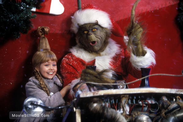 How the Grinch Stole Christmas - Publicity still of Jim Carrey & Taylor Momsen