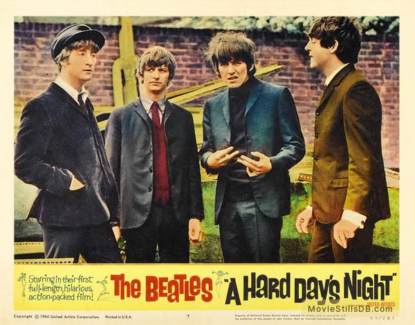 A Hard Day's Night - Lobby card with John Lennon, Ringo Starr, George Harrison & Paul McCartney