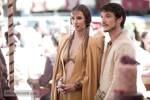 Game of Thrones - Publicity still of Indira Varma & Pedro Pascal