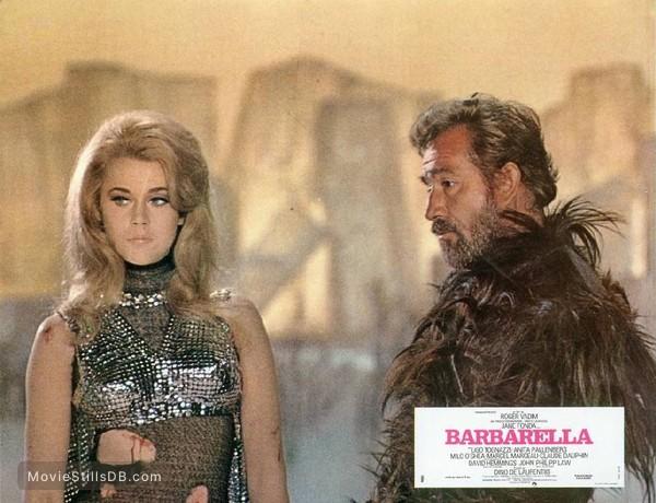 Barbarella - Lobby card with Jane Fonda & Ugo Tognazzi