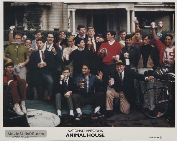 Animal House - Lobby card with John Belushi, Stephen Furst, Tom Hulce, Tim Matheson, Peter Riegert, James Widdoes & Douglas Kenney