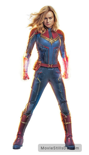 Captain Marvel - Promotional art with Brie Larson