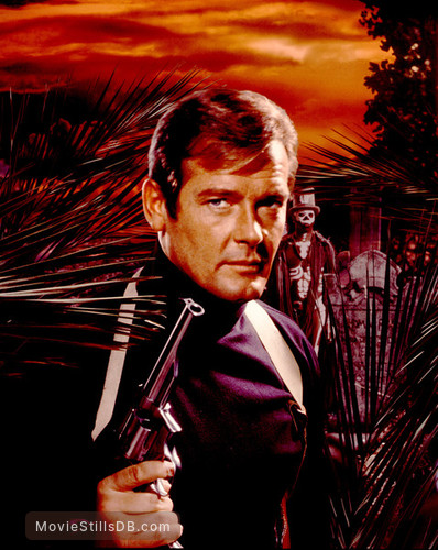 Live And Let Die - Promotional art with Roger Moore & Geoffrey Holder