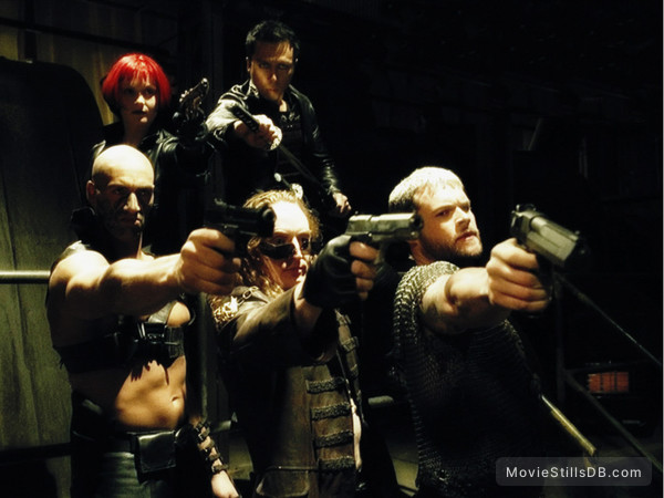 Blade 2 - Publicity still of Daz Crawford, Donnie Yen, Marit Velle Kile, Tony Curran & Matt Schulze