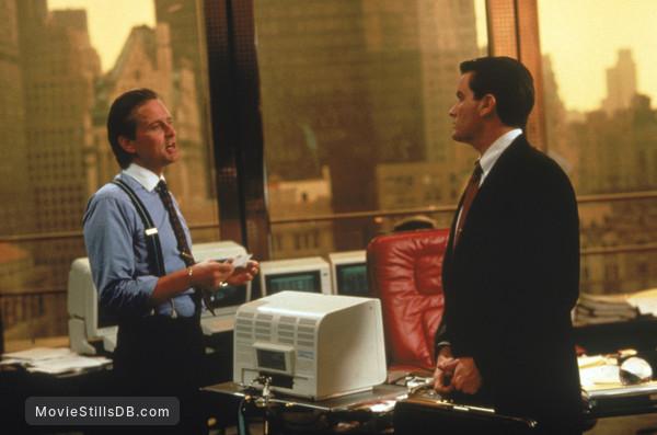 Wall Street - Publicity still of Michael Douglas & Charlie Sheen