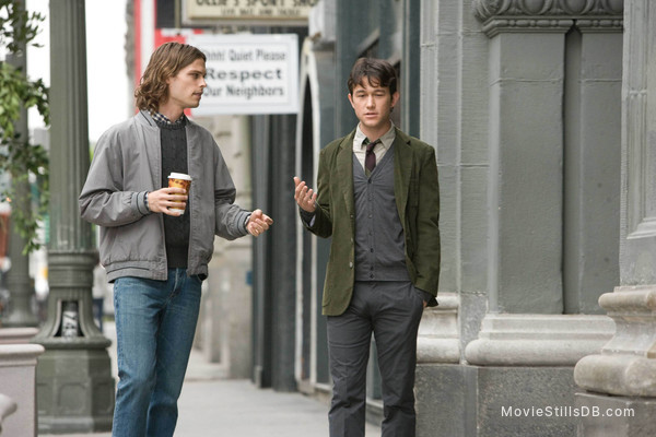 (500) Days of Summer - Publicity still of Joseph Gordon-Levitt & Matthew Gray Gubler