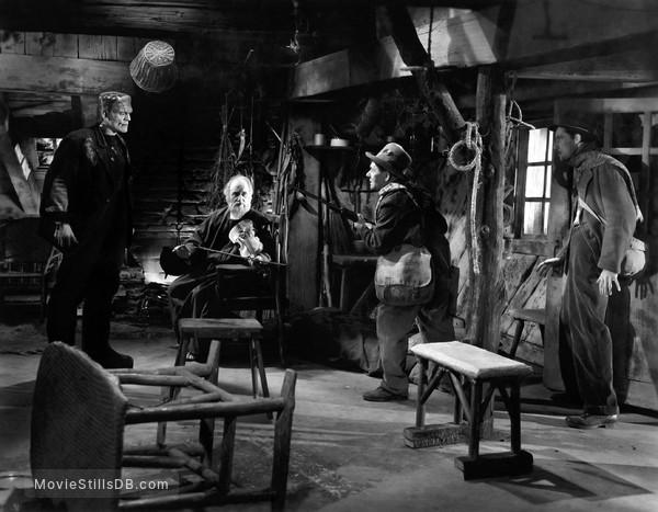Bride of Frankenstein - Publicity still of Boris Karloff, O.P. Heggie, Frank Terry & John Carradine