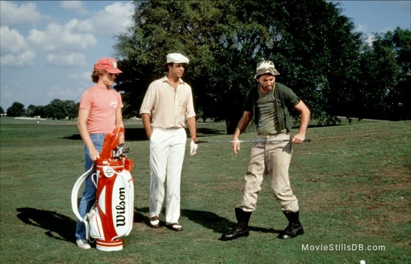 Caddyshack - Publicity still of Chevy Chase, Bill Murray & Michael O'Keefe