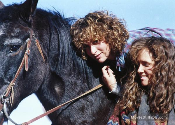 Red Dawn - Publicity still of Lea Thompson & Jennifer Grey