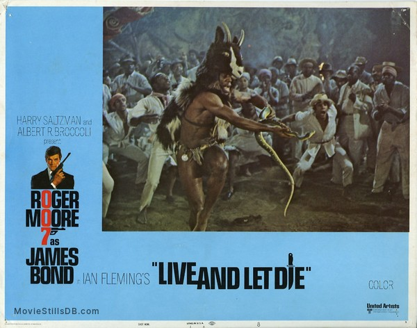Live And Let Die - Lobby card with Geoffrey Holder